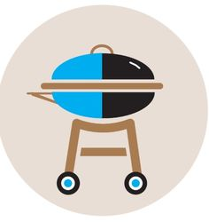 Flat design- Grill icon by Jessica Helmlinger