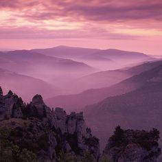 Purple mountain mist