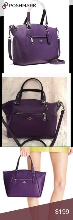 Coach Purple Leather Satchel✨ Reposhing; just not big enough for me. Authentic Coach ..MEASUREMENTS COMING Coach Bags