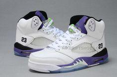 b1afe859f24 Jordan 5 V GS White Purple Green Black. Jordan V