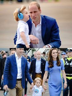 Prince William and Kate, Duke and Duchess of Cambridge, with their son, Prince George.