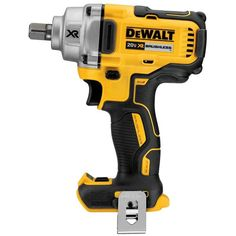 DEWALT XR Max Drive Cordless Impact Wrench at Lowe's. The MAX XR mid-range cordless impact wrench with detent pin anvil delivers up to 330 ft-lbs MAX of fastening torque and a lightweight, Dewalt Tools, Dewalt Cordless Tools, Cordless Drill, Driver Tool, Drill Driver, Concrete Anchors, Pin Tool, Wrench Tool, Lampe Led