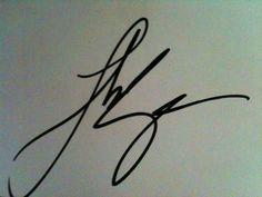 Luke Bryan's signature