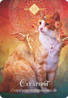 the Spirit Animal Oracle Deck Cat Spirit Animal, Whats Your Spirit Animal, Animal Spirit Guides, Animal Meanings, Animal Symbolism, Pet Psychic, Psychic Readings, Lotus, Angel Cards