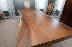 Slab Table by Christine's Custom Furniture, via Flickr