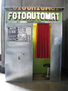 take some retro polaroids at the fotoautomat at Palais de Tokyo, Paris