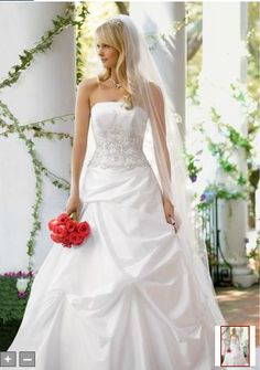 David's Bridal wedding gown - I adore this dress!! This is the dress I will be wearing September 24, 2013
