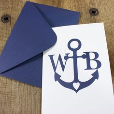 Heartfelt greeting card with your personalization! Configurate the anchor card and a lot of other designs online at www.bowandhummingbird.com or in our shop in Hamburg-Uhlenhorst