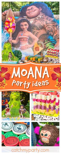 Take a look at this incredible Moana birthday party! The Tefiti birthday cake is amazing!! See more party ideas and share yours at CatchMyParty.com #partyideas #moana #cake #luau #tropical #maui