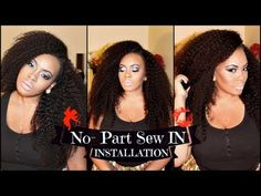 No-Part Sew IN Installation Tutorial with Sway Hair - KINKY TEXTURE - YouTube