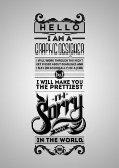 graphic design black and white words - Google Search