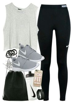 Outfit for the gym with Nike items - ~ Workout Clothes ~ - Damenmode Fitness Outfits, Womens Workout Outfits, Nike Outfits, Fitness Fashion, Sport Outfits, Summer Outfits, Casual Outfits, Hiking Outfits, Vans Outfit