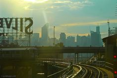 After the Storm: Midtown Manhattan- view from Queensboro Plaza subway station in Queens.