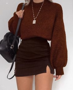 ♥ 52 winter outfits skirt ideas for women 1 Glamouröse Outfits, Cute Fall Outfits, Winter Fashion Outfits, Simple Outfits, Classy Outfits, Look Fashion, Pretty Outfits, Stylish Outfits, Girl Fashion