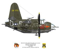 "Here is my latest caricature. A Martin B-26 Marauder named ""Flak Bait"". This aircraft flew 202 missions during WWII. Check out more at my web site www.blackheartart.com"