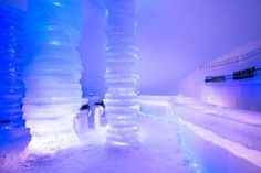 Icebar of Arctic Snowhotel in Lapland - Arctic Snowhotel & Glass Igloos Rovaniemi Santa Claus Village, Flights To London, Meet Santa, Have A Good Sleep, Lapland Finland, Uk Deals, Best Shopping Sites, Uk Holidays, Holiday Park