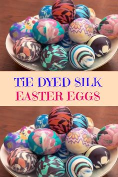 Tie Dyed Silk Easter Eggs