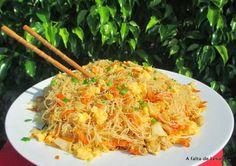 A falta de Lexatín... buenas son tortas: Fideos de arroz chinos salteados