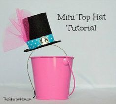 How To Make A Mad Hatter Mini Top Hat  Tutorial - good for leprechan hats, too!