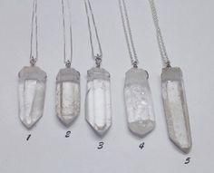 Crystal point smykker med krystall og sølv Necklaces in sterling silver