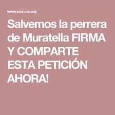 Salvemos la perrera de Muratella FIRMA Y COMPARTE ESTA PETICIÓN AHORA!