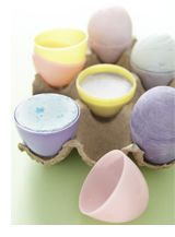 Who knew I could make my own chalk eggs. The kids will love these.