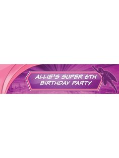 Supergirl Personalized Banner (Each) | Cheap Personalized Supplies