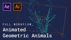 Animated Geometric Animals (After Effects Tutorial) Adobe After Effects Tutorials, Geometric Deer, Blender Tutorial, After Effect Tutorial, Blender 3d, Art Programs, Illustrator Tutorials, Work Inspiration, Photography And Videography