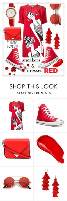 """""""dresses RED!"""" by anaile-gatto ❤ liked on Polyvore featuring beauty, Holly Fulton, Converse, Alexander Wang, Burberry, ZeroUV, BaubleBar and Skagen"""