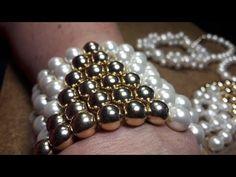 Elegante Pulsera de Perlas...Clase #9!!! - YouTube