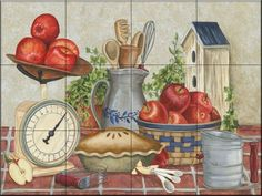 Mom's Apple Pie by Mary Lou Troutman - Kitchen Backsplash / Bathroom wall Tile Mural Tile Mural Store-Kitchen,http://www.amazon.com/dp/B00A5TD71U/ref=cm_sw_r_pi_dp_vV7Tsb00CS84PNAR