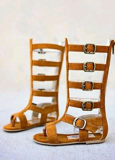 c6328089b281 Joyfolie Jayla Gladiator sandals in rust suede