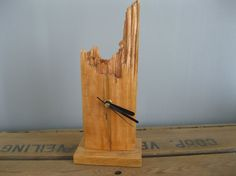 Handmade Recycled Wooden Clock by Kwerki on Etsy