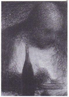 G. Seurat, Le Dîneur, vers 1883-1884.