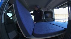Amdro boot jump car camper unit is basically a big box that fits in most European vans to convert them to an RV