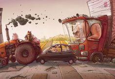 Штраф для медленных водителей появится в России