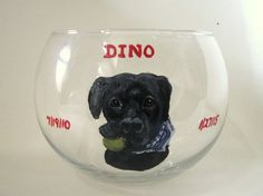 Pet Loss Memorial Black Lab Loss of Dog Candle Holder by petzoup
