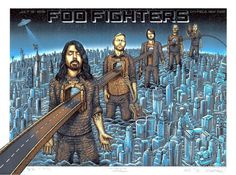 2015 Foo Fighters - NYC Silkscreen Concert Poster by Emek