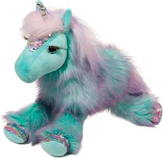Amazon.com: Douglas Veda Unicorn Fuzzle Plush Stuffed Animal: Toys & Games Unicorn Drawing, Unicorn Art, Unicorn Gifts, Rainbow Unicorn, Unicorn Surprise, Alien Creatures, Fantasy Creatures, Douglas Fur, Crystal Blue Eyes