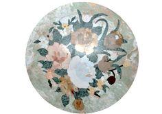 mosaico per pavimenti in marmo lavorato artigianalmente diametro cm 160 circa