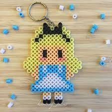 Alice hama beads by hamany_online Perler Bead Designs, Easy Perler Bead Patterns, Perler Bead Templates, Hama Beads Design, Diy Perler Beads, Perler Bead Art, Pearler Beads, Melt Beads Patterns, Beading Patterns