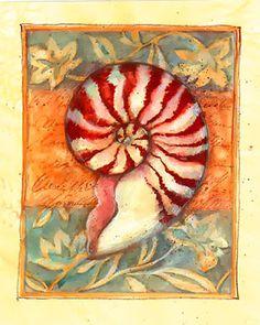 Mermaid Artwork, Seashell Art, Nautical Art, Ocean Themes, Sea And Ocean, Beach Scenes, Book Of Shadows, Beach Art, Sea Creatures