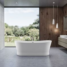 Charlotte Edwards White Jupiter Double Ended Boat Freestanding Bath - 1700mm x 700mm x 630mm