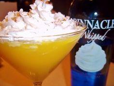 Whipped Vodka – Orange Creamsicle Drink Recipe: 2oz whipped cream vodka, 4~6oz sunkist orange soda, 1/2 glass ice, redi whip cream on top