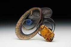 Brooch | Tai & Tiara Kim Designs.......C Fox: Spirals create motion.