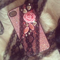 Lace and decoden phone case.