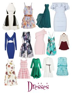 """Dresses"" by tumblrgirl102 ❤ liked on Polyvore featuring David Koma, Alexander McQueen, GUESS by Marciano, Ally Fashion, BCBGMAXAZRIA, Billabong, Topshop, Marc by Marc Jacobs, Chicwish and Sea, New York"
