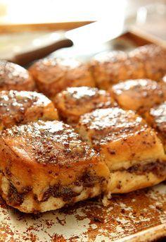 Bacon, Ham and Swiss Cheese Sliders