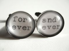 Unique for ever and ever Cufflinks Black Wedding by JonTurner, £18.00