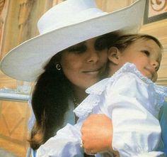 Princess Caroline and son Andrea Casiraghi.1986.